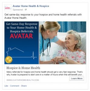 Healthcare advertising on Facebook